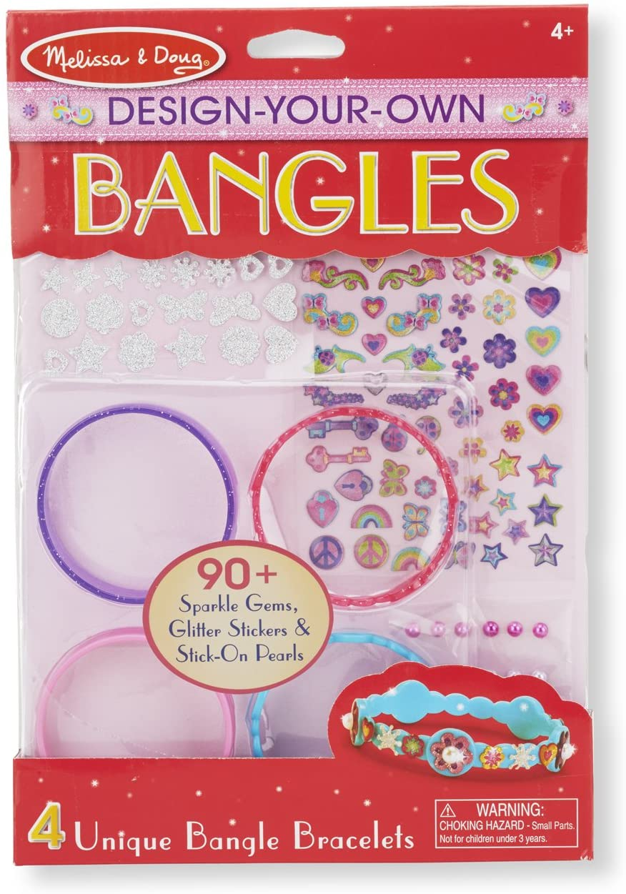Melissa & Doug Design-Your-Own Bangles Bracelet-Making Set (Makes 4 Bangles, Great Gift for Girls and Boys - Best for 4, 5, 6, 7, 8 Year Olds and Up)
