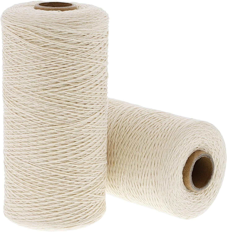 Warp Thread for Weaving Loom, 800 Yards Each (Ivory, 2 Rolls)