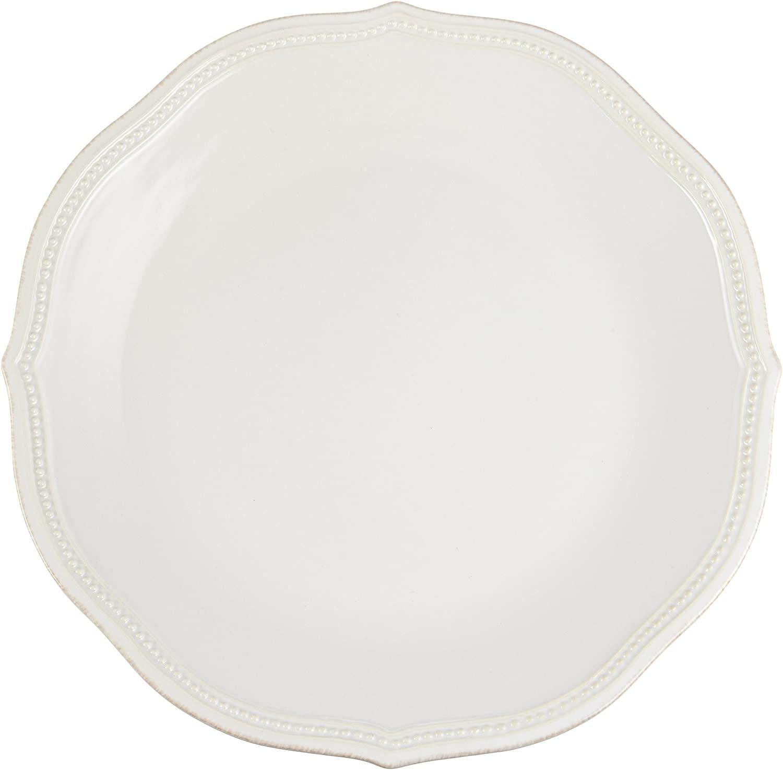 Lenox White French Perle Bead Dinner Plate, 1.85 LB