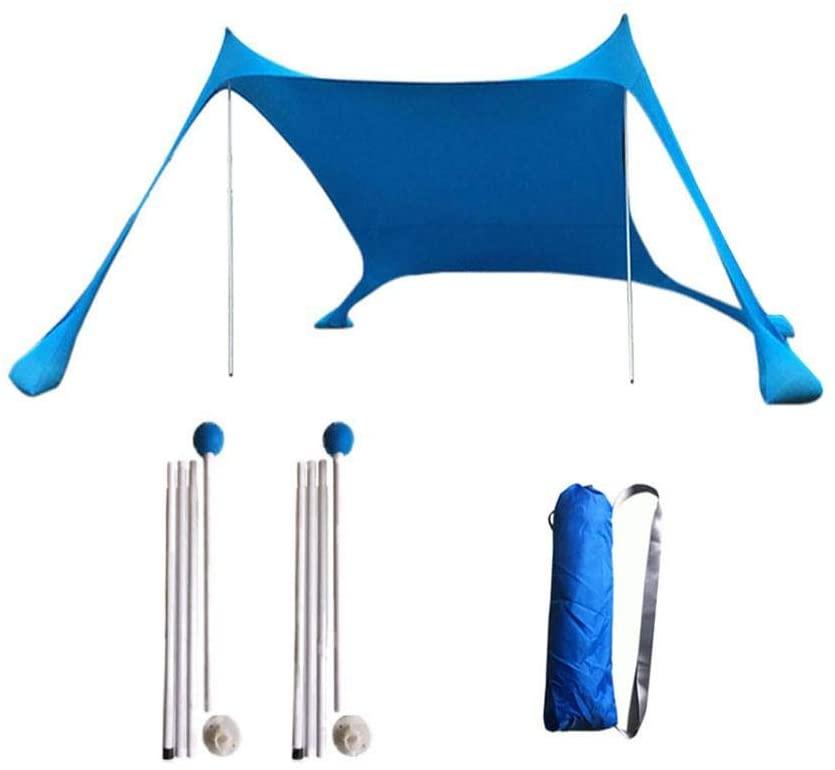 cherrysong Beach Sun Shade sail Canopy kit,Sun Screen Shelter Awning,High Density Sunblock Shade Sail Canopy Awning,Beach Patio Lawn UV Resistant,210X210X160cm