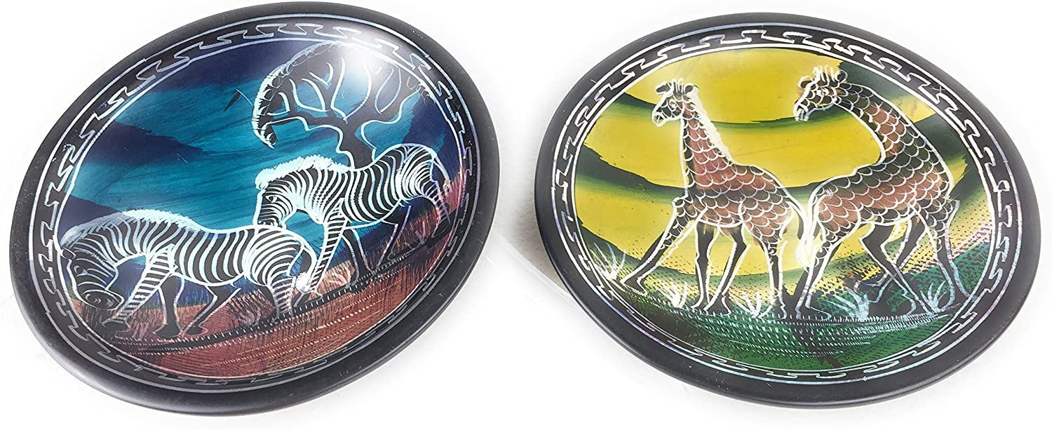 Animal Decorated Ceramic Set of Side Plates Great For Display
