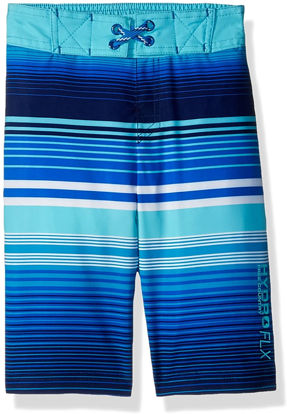 Free Country Boys' Little Ripple Effects Print Board Shorts
