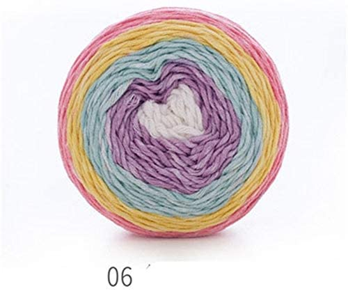xinchenglove Colored Segments Dyed Wool Yarn 1.76 Ounce / 3.52 Ounce / 7.05 Ounce Cotton Thread Jewelry Weaving Handmade DIY Yarn Chunky Knitting Yarn Accessory ZB119 (6,1.76 Ounce)