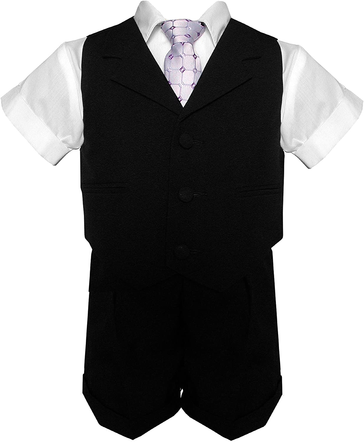 Gino Giovanni Baby and Toddler Boy Summer Suit Black Short Set