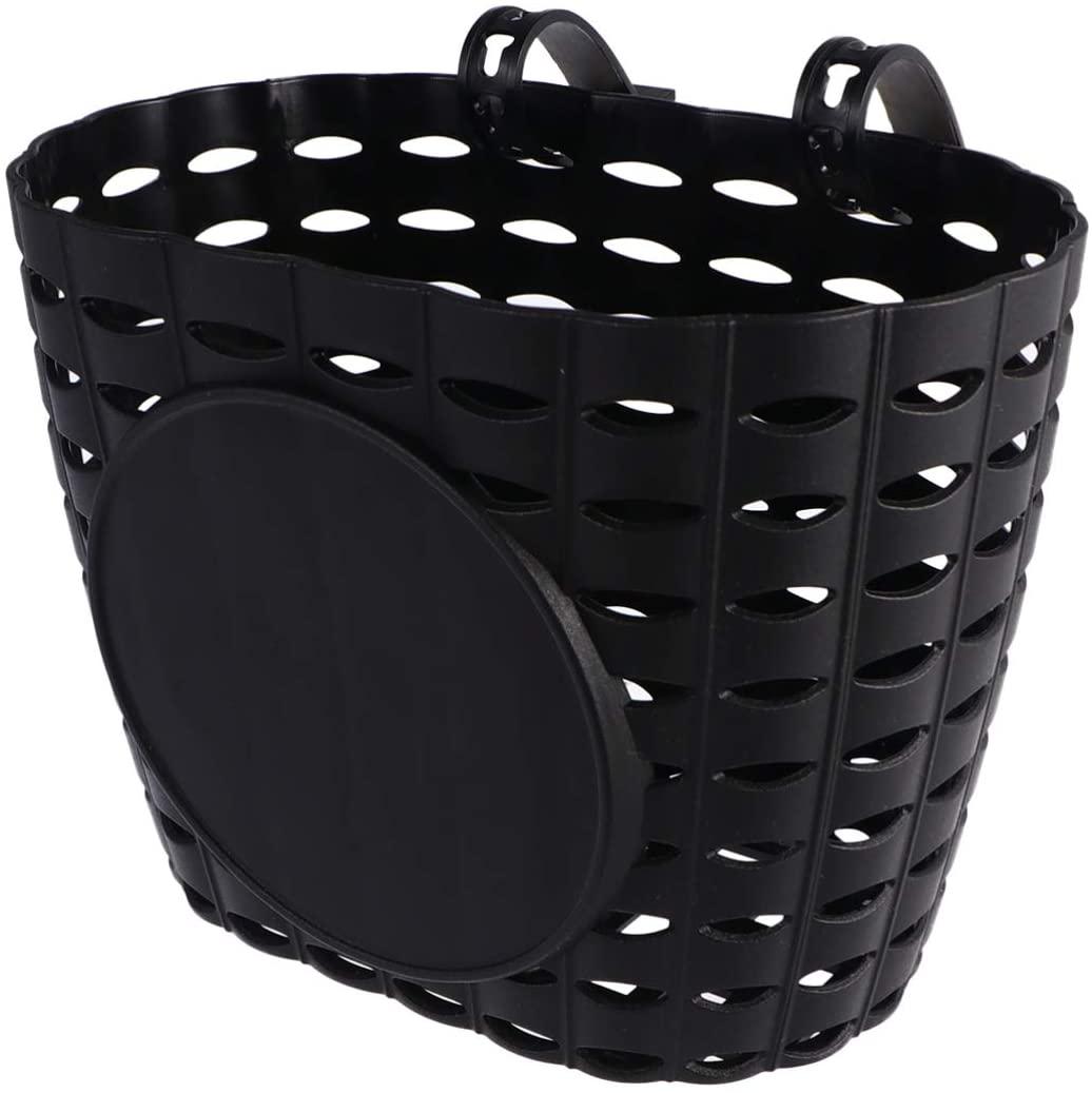 BESPORTBLE Bicycyle Basket Front Handle Bar Basket Bike Crate Plastic Mountain Bike Basket for Kids Bike (Black)