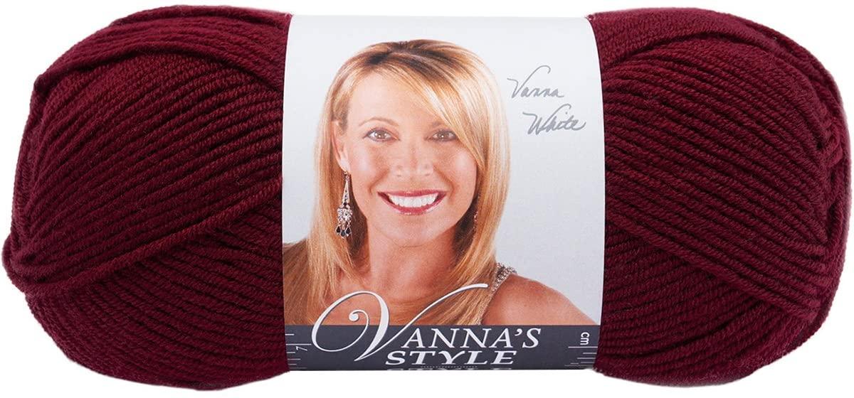 Lion Brand Yarn 867-142 Vanna's Style, Claret