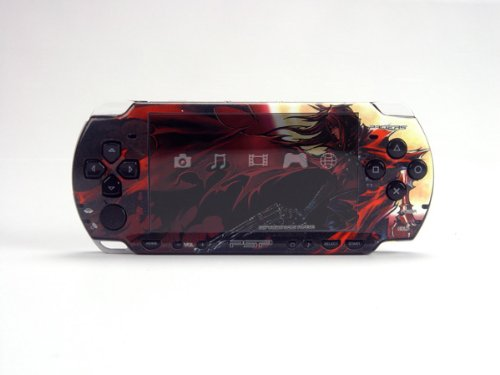 Final Fantasy VII Advent Children PSP (Slim) Dual Colored Skin Sticker, PSP 2000
