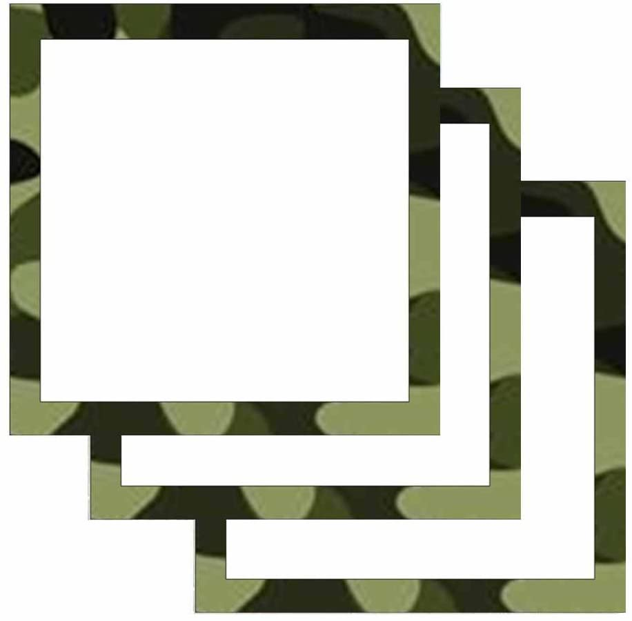 Camouflage Print Border Sticky Notes - Military Theme Design - Stationery Gift - Paper Memo Pad - Office and School Supplies