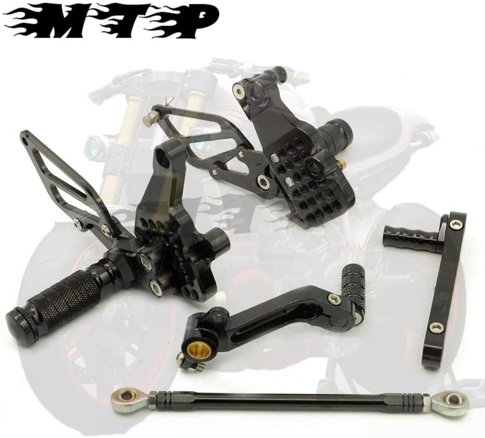 Frames & Fittings CNC Billet Racing Adjustable Rearset Foot Pegs Rear Sets for Ducati 749 749R/S 999 999R/S 03 04 05 06 All Year