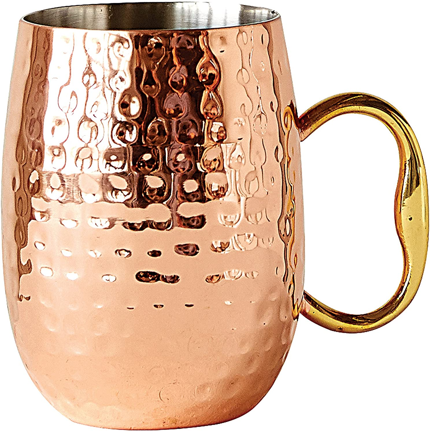 Creative Co-Op Stainless Steel Moscow Mule Mug with Handle, 4H, Copper