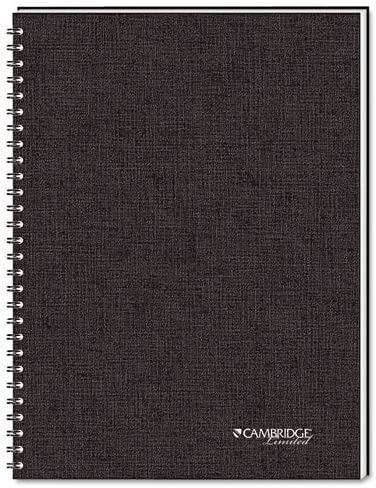 Side Bound Guided Business Notebook, QuickNotes, 8 x 5, White, 80 Sheets
