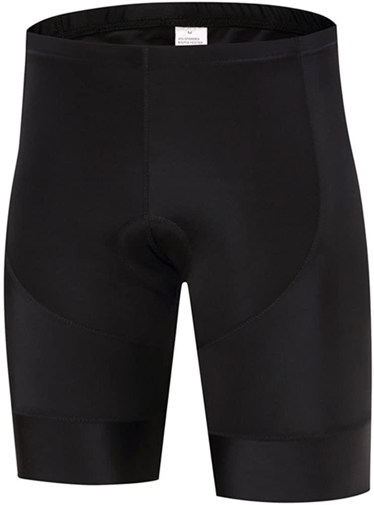 FUALRNY Men's Basic Biking Cycling Shorts with 3D Padded