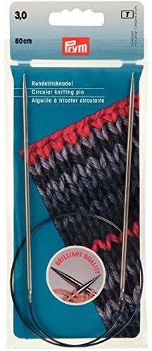 Prym Brass Fixed Circular Knitting Needles - each