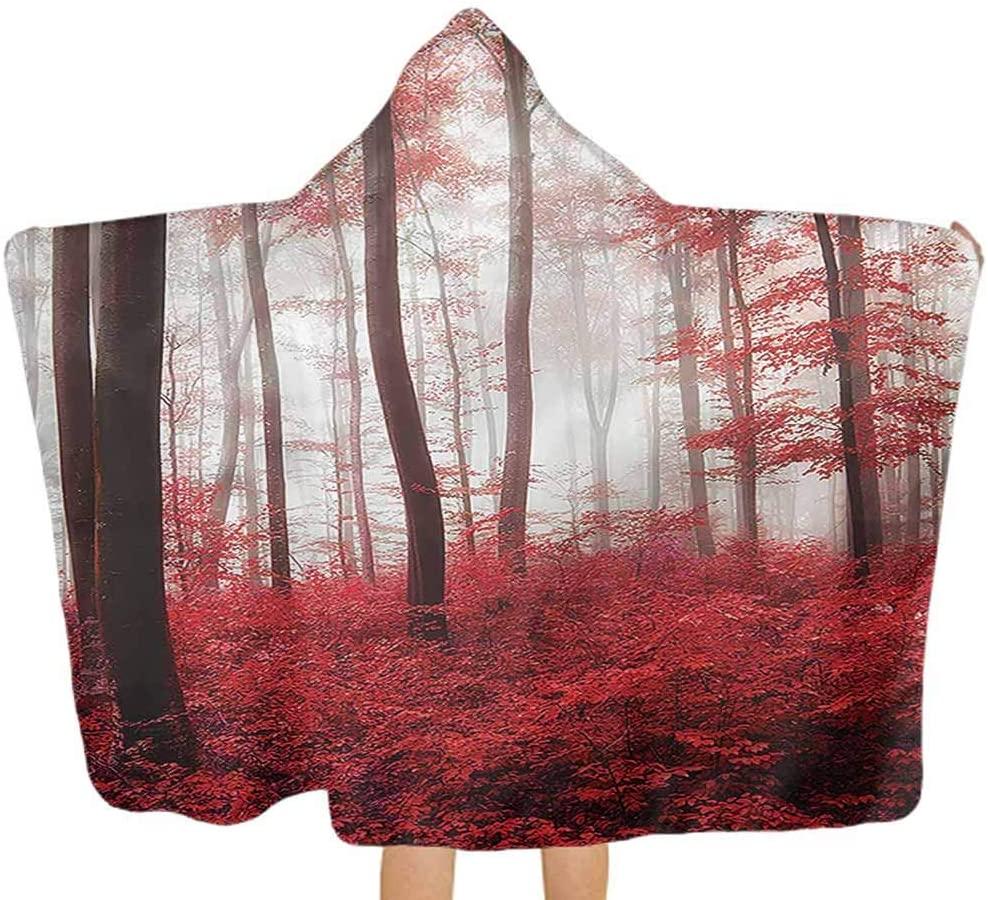 Carmaxs Nature Kid Hooded Blanket Mystical Woodland Theme Keep Dry&Warm-Quality for Boy Girl 32 x 50 Inch Kids