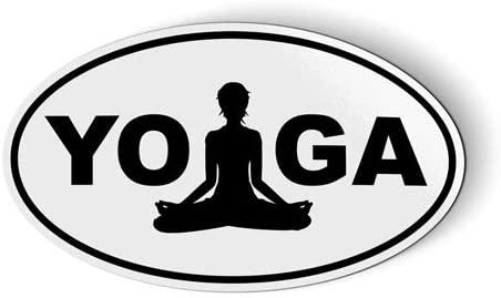 Yoga Lotus Oval - Magnet for Car Fridge Locker - 5.5