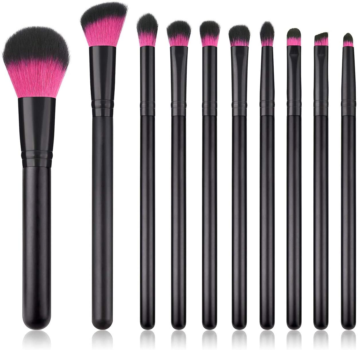 zZZ ZX Multifunctional 10 Makeup Brushes Black Purple Hair Set Beauty Tools Makeup Tools New Super Soft and Smooth Especially Suitable for Beginners Beautiful