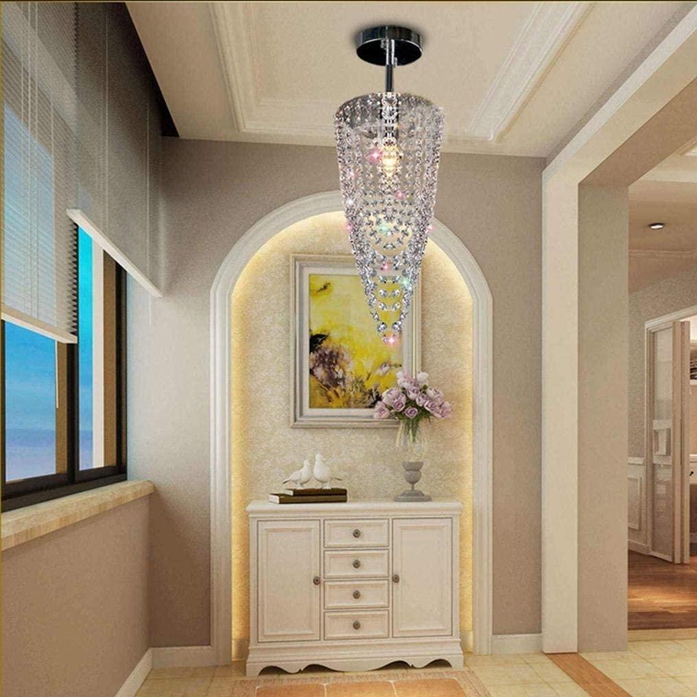 BOSSLV Modern Fashion Style E14 Pendant Lamp Conical Crystal Decorative Hanging Lamp Chrome Metal Design Chandelier Maximum 40W Corridor Loft Lighting