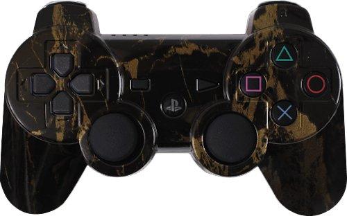 Custom PS3 Controller - Black Gold Marble Dualshock 3