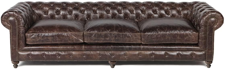 Silver Coast Company Brown Leather Sofa 118