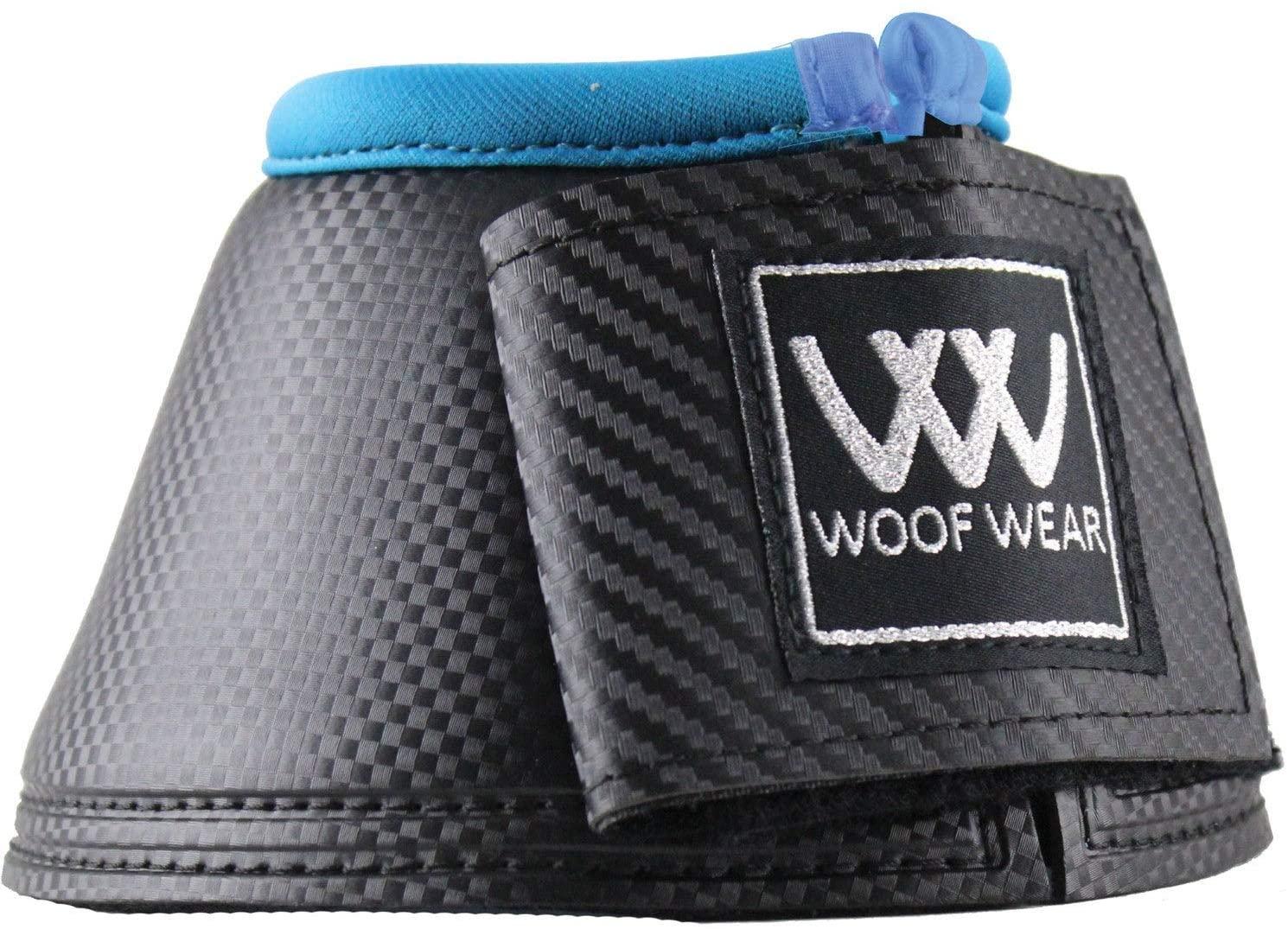 Woof Wear Pro Colour Fusion Over Reach Boots Medium Black Turqoise