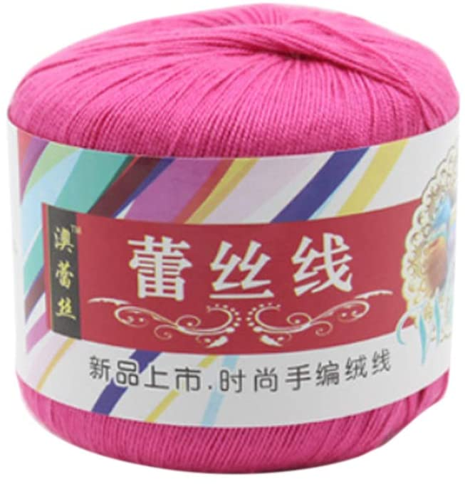 minansostey Mercerized Cotton Cord Thread Yarn for DIY Embroidery Crochet Knitting Lace Sewing Accessories