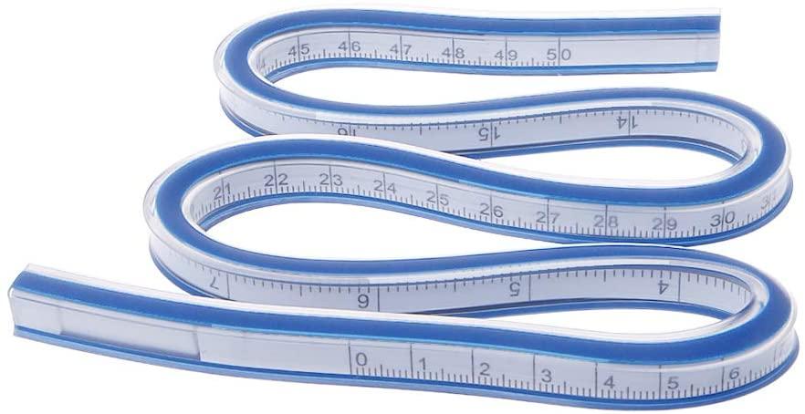 Tape Measure Measuring Tape, Flexible Curve Ruler Drafting Drawing Tool Plastic Vinyl 30cm 40cm 50cm 60cm