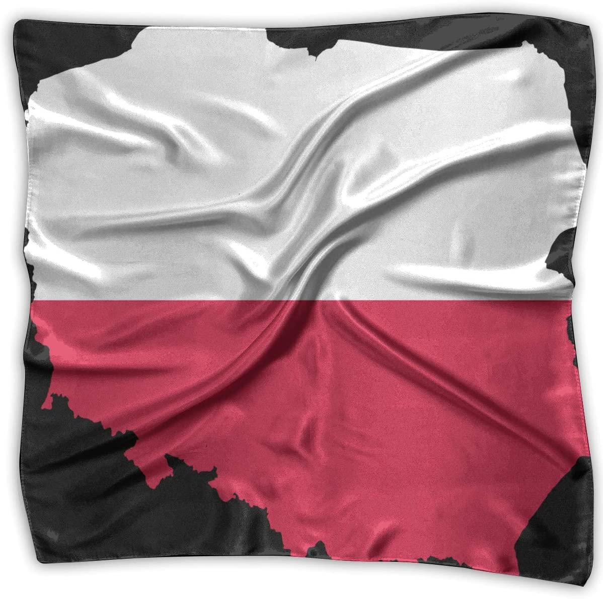 WFIRE 2018 Poland Flag and Map Square Handkerchiefs Scarf Shawl Bandanas Headscarf Neckerchief Tie Hair Scarf