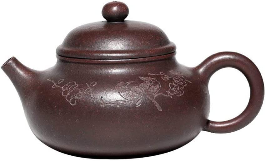 Kungfu Porcelain Lid Teas Teacups Sets Teapot Portray Kiln Capacity Days Firewood Pure Hand-tea Tea LEBAO (Color : Red)