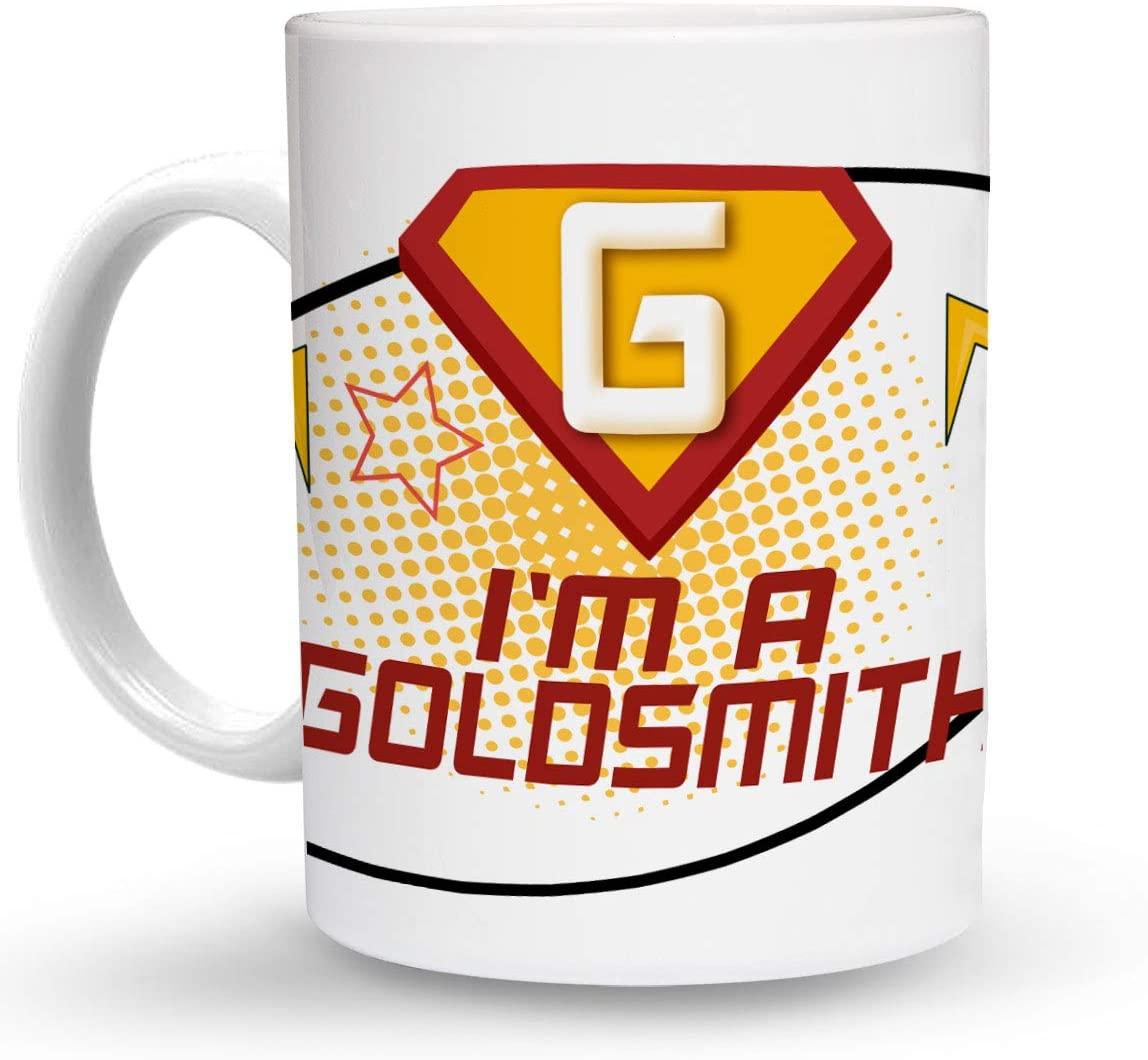 Makoroni - I'M A GOLDSMITH Career 6 oz Ceramic Espresso Shot Mug/Cup Design#56