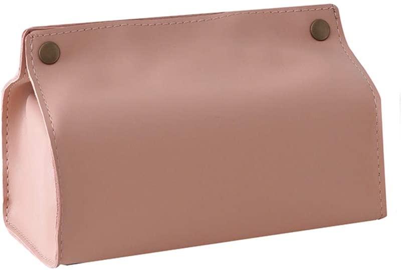 QIMO Tissue Box Holder Leather Tissue Box Cover Dispenser Decorative Paper Holder Napkin Holder for Kitchen,Facial,Bathroom,Car