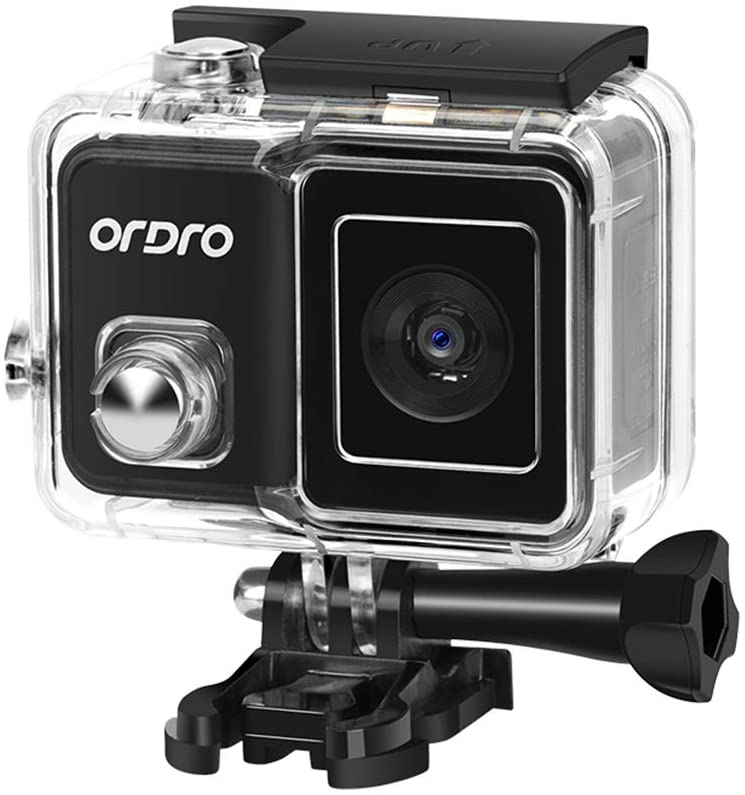 Goliraya Brave 1 4K 60fps WiFi Sports Action Camera PTZ Anti-Shake 120° Wide Angle 30M Waterproof Supports Slow/Fast Motion Time-Lapse Photography Built-in Photo Filters with Waterproof Shell Bicycle