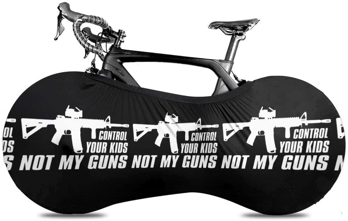 Control Your Kids Not My Guns Bike Dust Cover Bicycle Wheel Protective Case