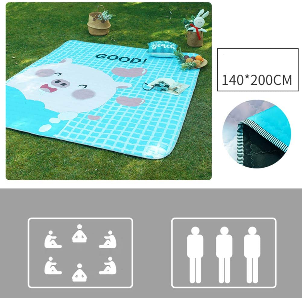 XIAOMEI Portable Picnic Blanket Waterproof Backing,Outdoor Foldable Sandproof Beach Blanket,Lightweight Washable Mat Camping