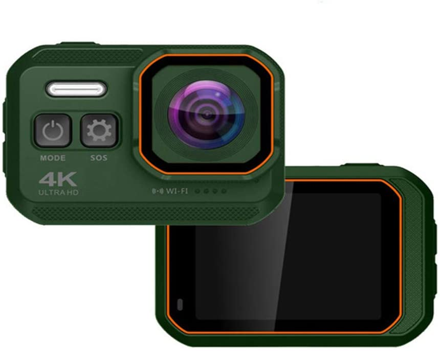 YZXZM 4K WiFi Action Camera IP68 Waterproof Diving Camera with 2.0 inch IPS Screen 16MP Ultra HD Sport Camera Sports DV,Green