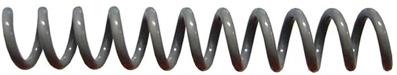 Spiral Binding Coils 7mm (9/32 x 36-inch) 4:1 [pk of 100] Charcoal Gray (PMS Cool Grey 10 C)
