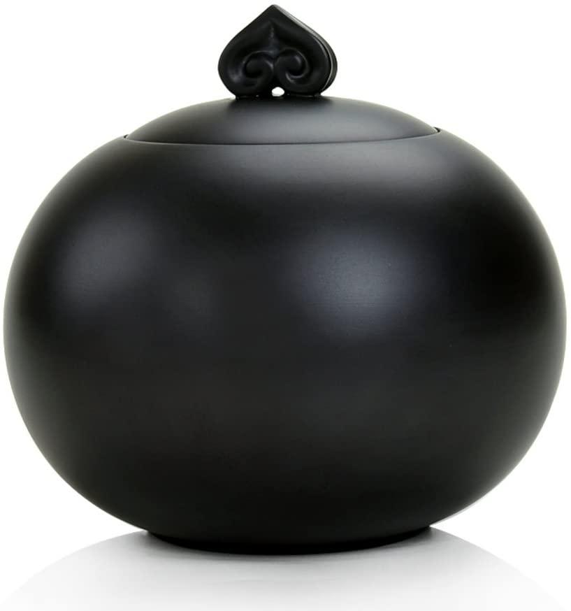Porcelain Jar tea Canister tea Storage Chests tea Set The Caddy Household Tea Storage Barrel-a 12x13cm(5x5inch)