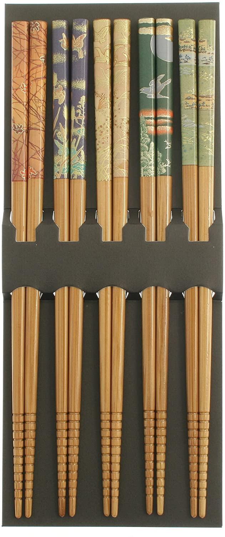 123kotobukijapanstore Kotobuki Translucent Chopsticks with Bamboo Scenery #311-507