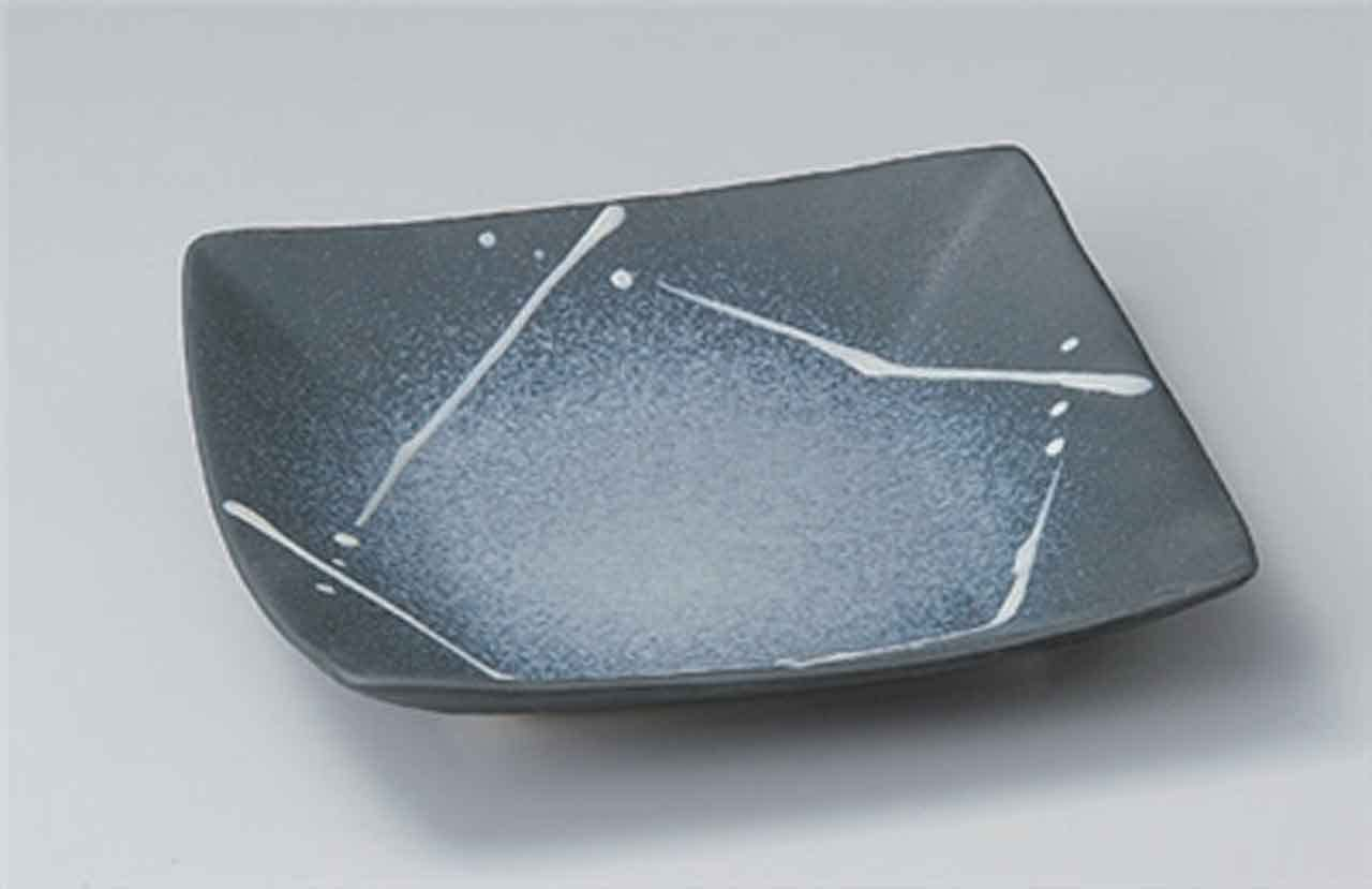 Black Glaze 8.5inch Medium Plate porcelain Made in Japan