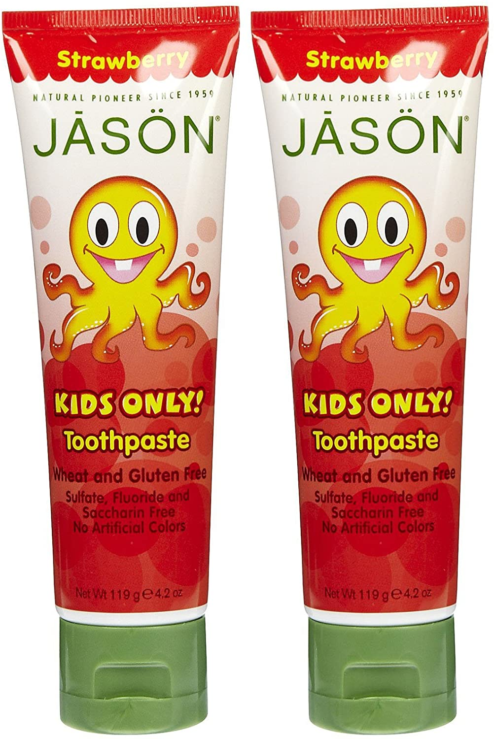 Jason Kids Only! Toothpaste with Calcium Carbonate, Strawberry - 4.2 oz - 2 pk