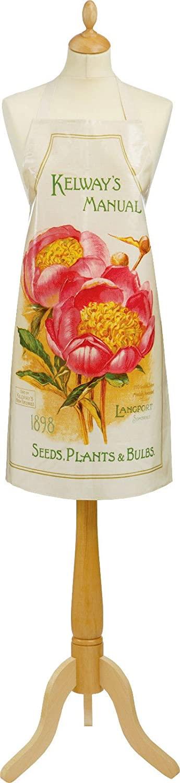 Royal Horticultural Society Kelways Flower Pvc Apron Garden Ulster Weavers Uk