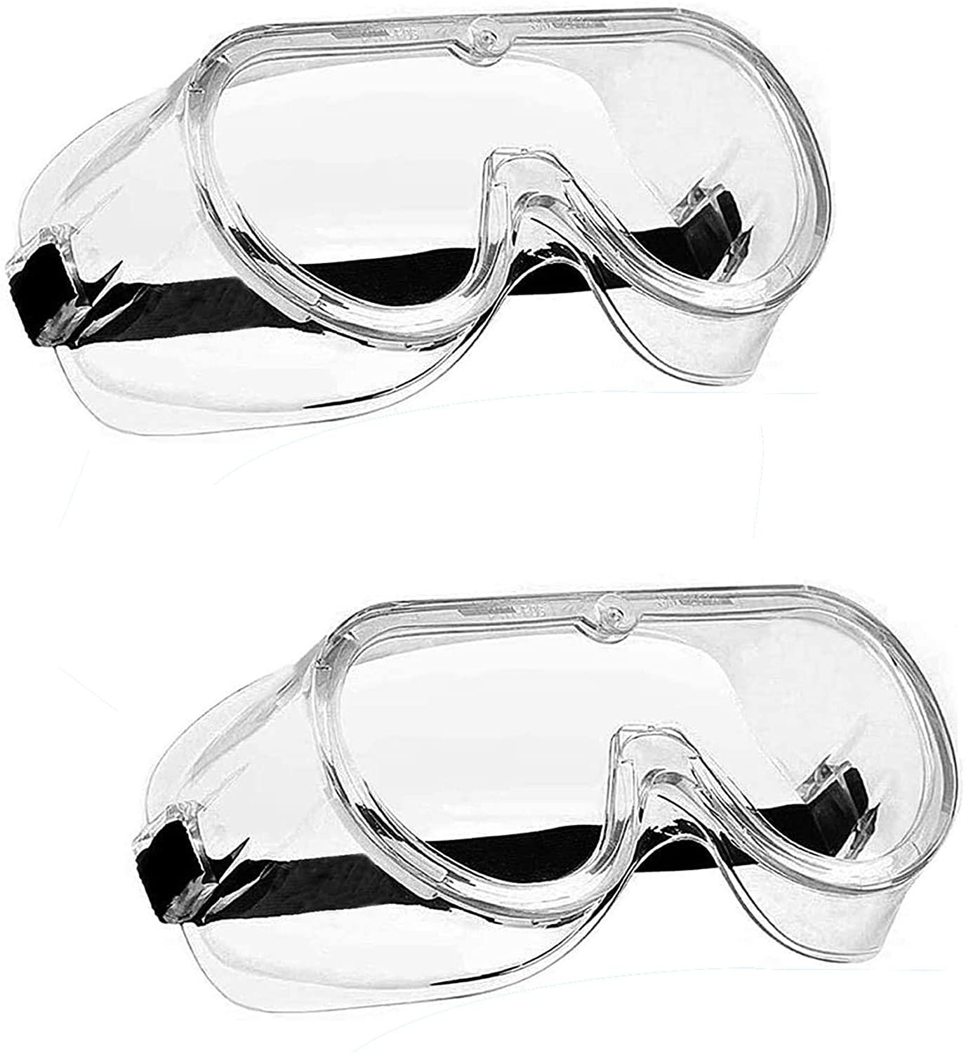Safety Goggles, Chemistry Goggles, Lab Safety Goggles Over Glasses, Protective Goggles, Protective Eyewear, Soft Crystal Clear Eye Protection - Perfect For Construction, Shooting, Lab Work, And More