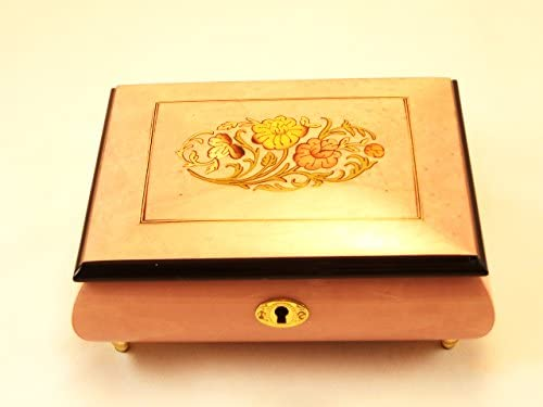 Made in Italy Sorrento Floral High Gloss Jewelry Music Box - The Rose (Sankyo 18 Notes)