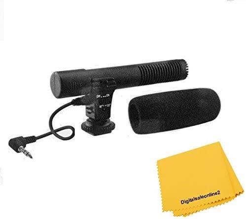 Mini Condenser Microphone for Sony HDR-CX900 PJ790 PJ760 CX760 PJ710 PJ670 PJ650V, CX580V, PJ540, FDR AX100, AX53, AX33
