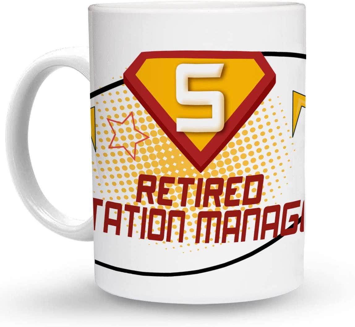 Makoroni - RETIRED STATION MANAGER Career 6 oz Ceramic Espresso Shot Mug/Cup Design#7