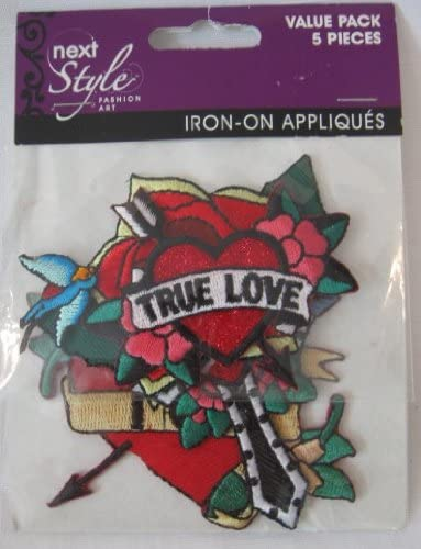 Next Style Iron-On Appliques Value Pack 5 Pieces
