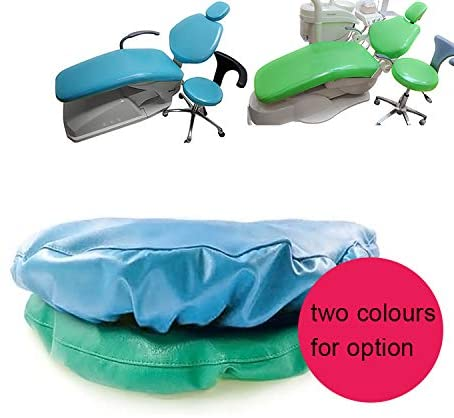 Aries Outlets 4pcs/Set Protective Full Dental Chair Cover Advanced Milk Silk + TPU + Composite Film Waterproof Material (Average Size, Blue)