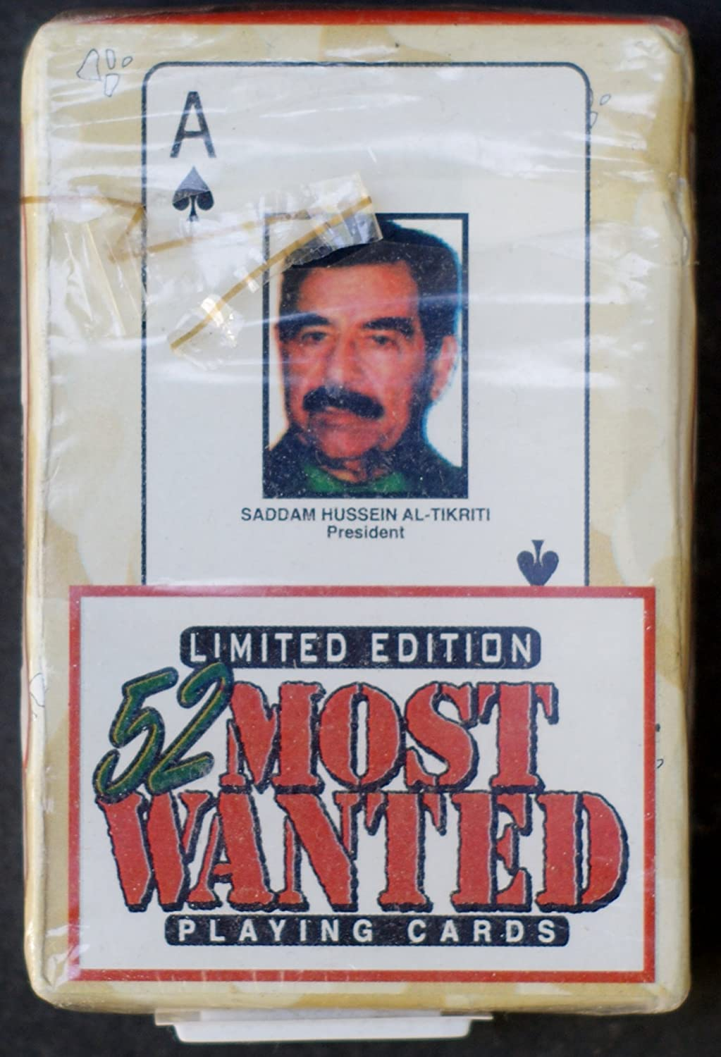 Playing Cards Limited Edition 52 Most Wanted Terrorists in Iraq and Afghanistan