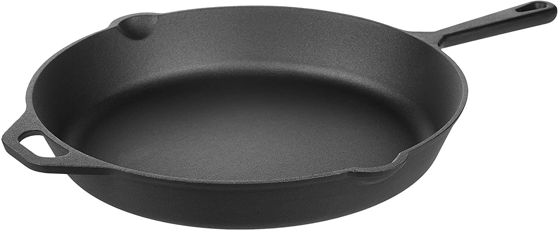 DHgateBasics Pre-Seasoned Cast Iron Skillet Pan, 15 Inch