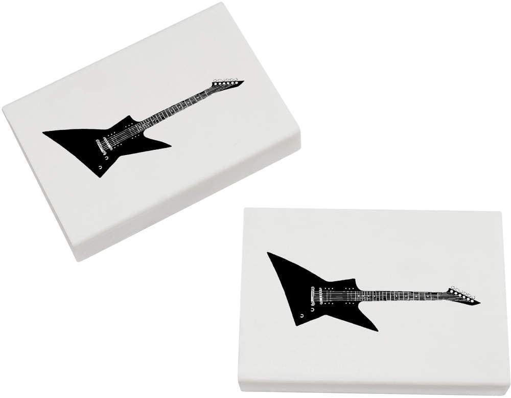 Azeeda 2 x 45mm 'Electric Guitar' Erasers / Rubbers (ER00019744)