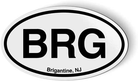 Stickers & Tees BRG Brigantine NJ New Jersey Oval - Car Magnet - 5